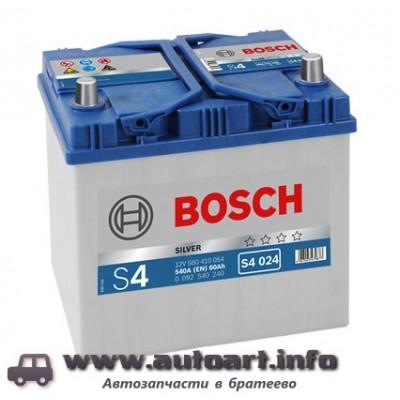 Аккумулятор BOSCH S4 60Ah 540A 232x173x225 (-+)