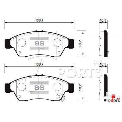 колодки дисковые передние!\ Suzuki Liana 1.3/ 1.6i/ 1.6 &4WD/ 1.4DDiS 01>
